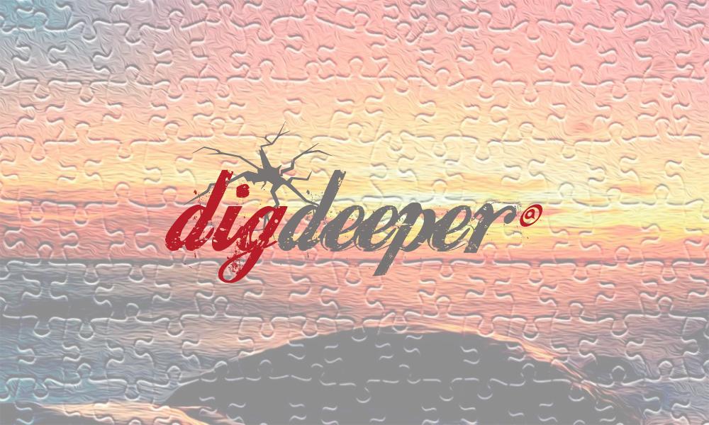 Dig Deeper-logo over coverbilde fra Himmelriket-utgivelsen